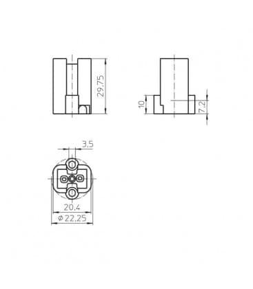 Lampholder, Base G8.5 33650