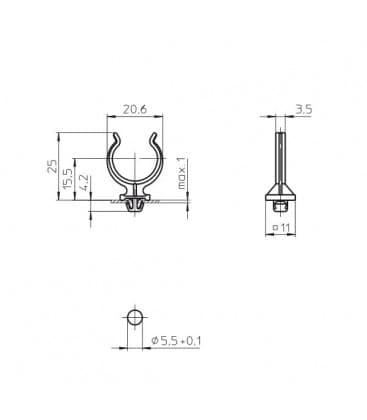 Lampenhalter fur 2G11 36060