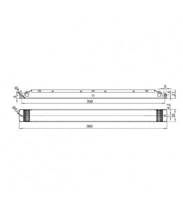ELXd 180.613 1x35-80W TC-L, T5 Dimmbar