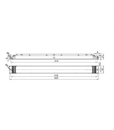 ELXd 239.610 2x21-40W TC-L, T5 Dimmerabile