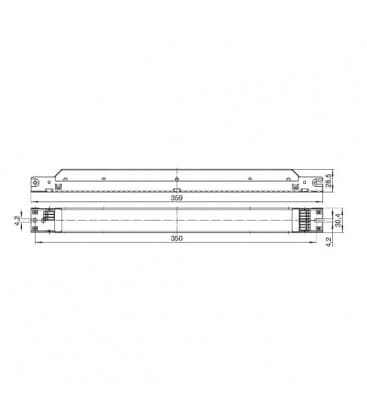 ELXd 218.719 2x18W, 2x24W TC-F/-L, T8 Dimmbar