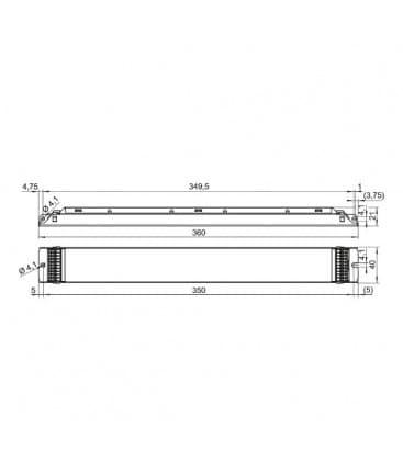 ELXd 418.625 4x18W T8 Dimmerabile