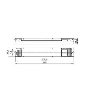EMXs 180.000 1h Ni-Cd Modulo per illuminazione di emergenza