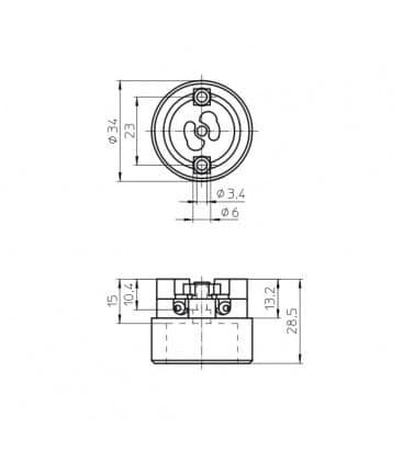 Portalampara GX8.5 34600