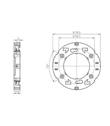Portalampara GX53-1 11000
