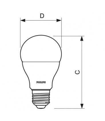 CorePro LEDBulb D 9.5-60W 220-240V WW E27 Gradable