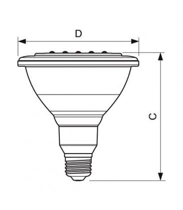 MASTER LEDspot D 13-100W 827 PAR38 25D E27 Moznost zatemnitve
