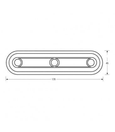 LED Dot-it Linear Vario 0.23W 80142 Silber
