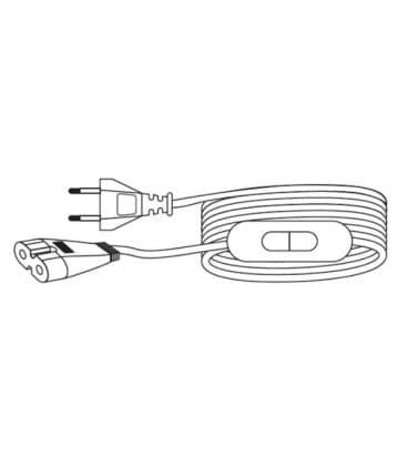 LEDVANCE Polybar Priključni kabel 2m EU vtič