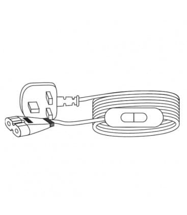 LEDVANCE Polybar Entrada Cable 2m UK enchufe