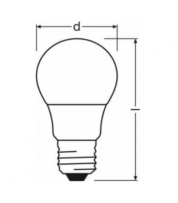 LED Parathom CL A 40 5W 220-240V CW FR E27