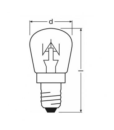 Appliance T25 CL 25W 230V E14 Pecica