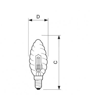 Halogen EcoClassic BW35 42W 230V E14