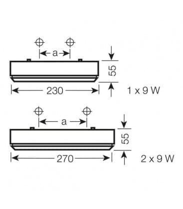 Dulux Rondel 9W 230V Sensore 73025-75