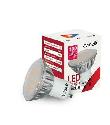 LED Spot Alu 3W CW GU10