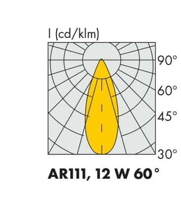 LED AR111 12W 12V WW 60D