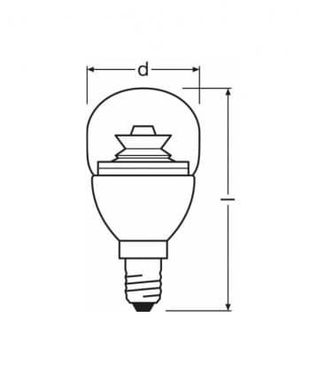 LED superstar Classic P 25 4W-827 220-240V E14 Regulable