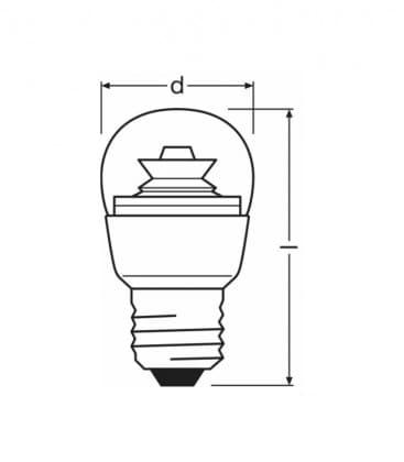 LED Superstar Classic P 25 4W-827 220-240V E27 Možnost zatemnitve