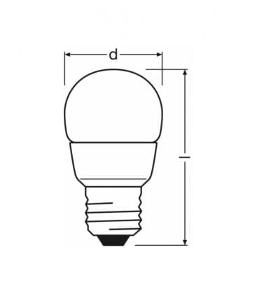 LED Superstar Classic P 25 4W-827 220-240V FR E27 Možnost zatemnitve
