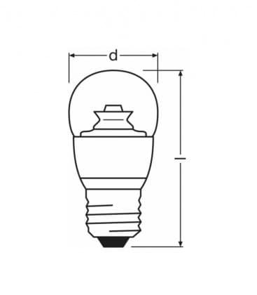 LED Superstar Classic P 40 6W-827 220-240V E27 Regulable