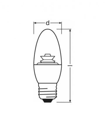 LED Superstar Classic B 40 5.7W-827 220-240V E27 Dimmerabile