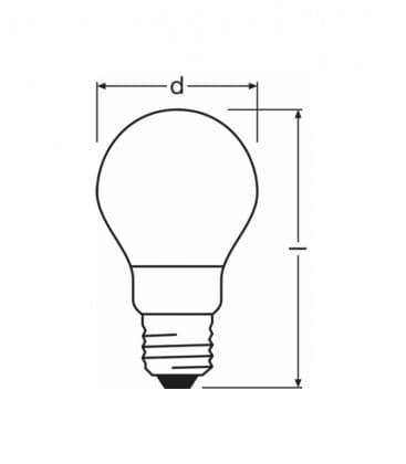 LED Retrofit Classic A 60 8W-827 220-240V FR E27