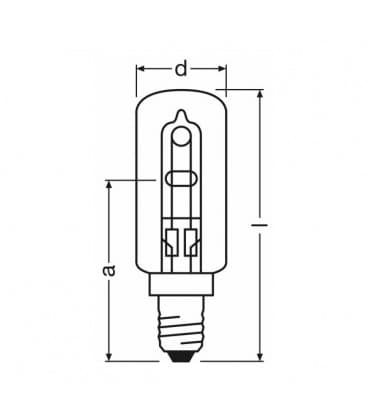Halolux T eco 230V 60W 64862T E14