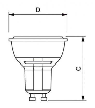 Master LEDspotMV VLE 4.3-50W 830 230V GU10 25D Dimmable