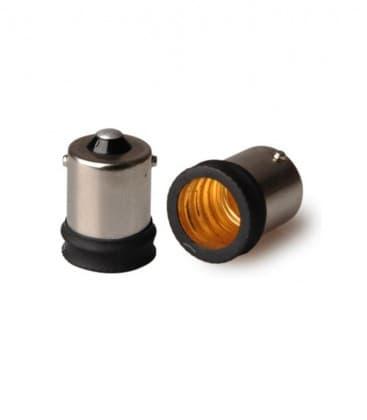 Adaptador de sostenedor lampara de BA15s a E14
