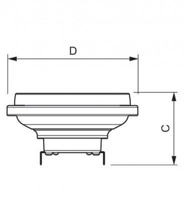 Master LEDspot LV D AR111 11-50W 12V 927 24D Možnost zatemnitve