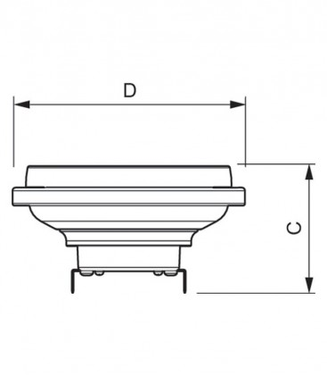 Master LEDspot LV D AR111 11-50W 12V 930 40D Možnost zatemnitve