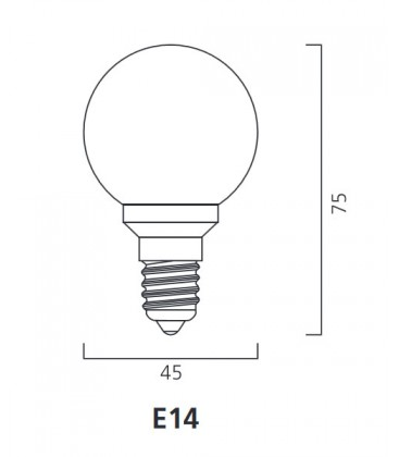 ToLEDo Outdoor Ball 220-240V 0.5W E14 IP44 Verde