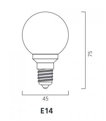 ToLEDo Outdoor Ball 220-240V 0.5W E14 IP44 Naranja