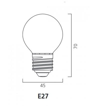 ToLEDo Outdoor Ball 220-240V 0.5W E27 IP44 Rdeča