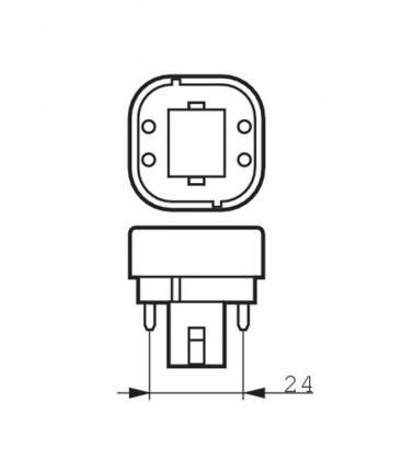CorePro LED PLC 6.5W 830 4P G24q-2