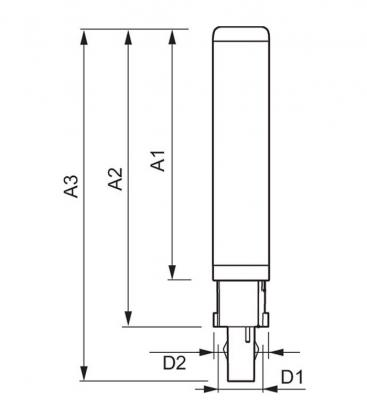 CorePro LED PLC 8.5W 840 2P G24d-3