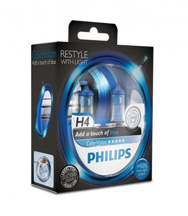 ColorVision H4 12V 60/55W P43t 38 Bleu Paquet double 12342CVPBS2 8727900367935