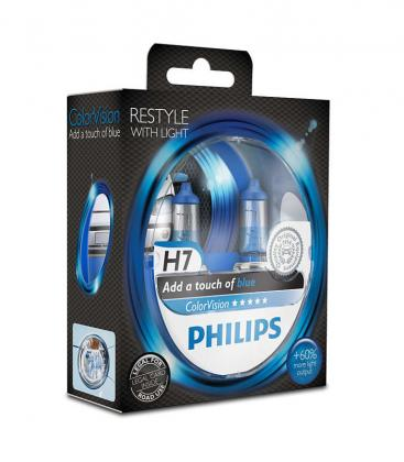 ColorVision H7 12V 55W PX26d Azul Double Pack 12972CVPBS2 8727900368109