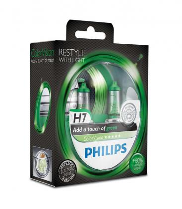 ColorVision H7 12V 55W PX26d Green Double pack 12972CVPGS2 8727900367980