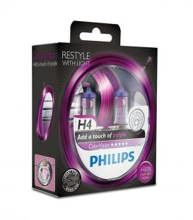 ColorVision H4 12V 60/55W P43t-38 Purple - Double pack