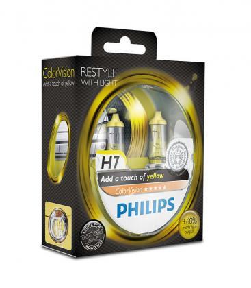 ColorVision H7 12V 55W PX26d Jaune Paquet double 12972CVPYS2 8727900368024