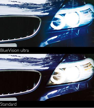 H4 12V 60/55W P43t-38 BlueVision ultra