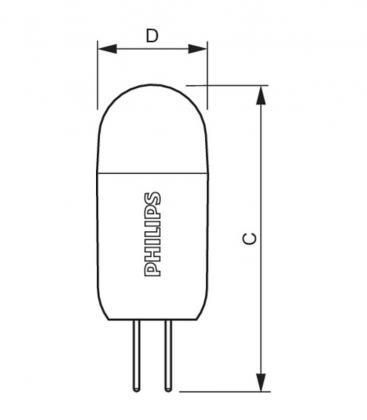 CorePro LEDcapsuleLV 1.2-10W 830 G4