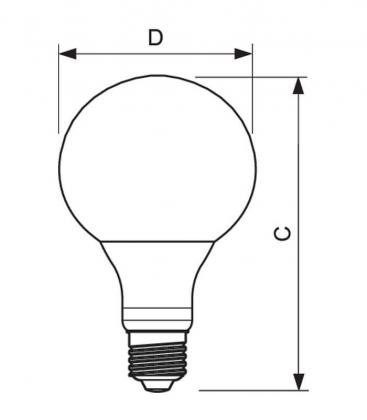 LED Globe 9-60W 827 230V FR G93 E27
