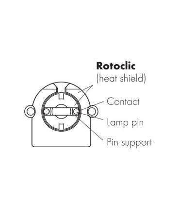 Portalampara G13 Rotoclic incorporada portalampara 59106