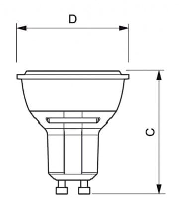 Master LEDspotMV D 5.4-50W 927 230V GU10 25D Dimmbar