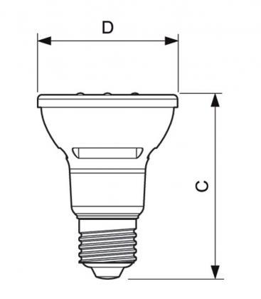 MASTER LEDspot D 5.5-50W 827 PAR20 E27 40D Gradable