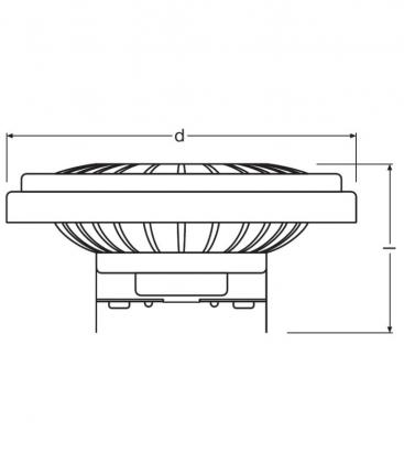 Parathom PRO AR111 50 8.5W 12V 940 24D Dimmable