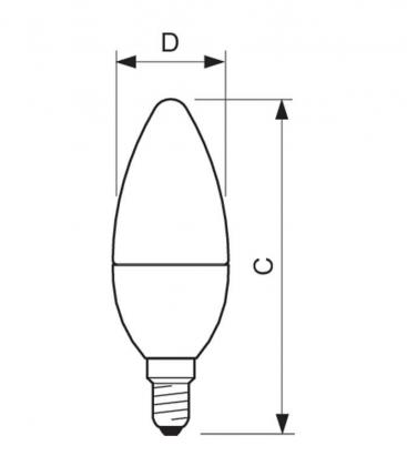 Master LEDcandle DT 6-40W 220-240V WW B38 CL E14 Gradable