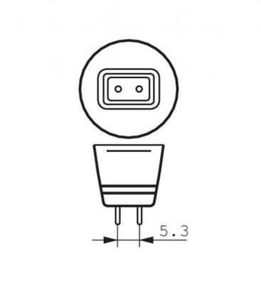 Master LEDspotLV VLE 6.3-35W 827 12V MR16 24D Dimmerabile